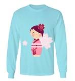 Jual Beli Sz Graphics Kimono Flower T Shirt Long Sleeve Wanita Kaos Lengan Panjang Wanita T Shirt Wanita Kaos Wanita T Shirt Fashion Biru