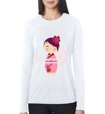 Jual Beli Sz Graphics Kimono Flower T Shirt Long Sleeve Wanita Kaos Lengan Panjang Wanita T Shirt Wanita Kaos Wanita T Shirt Fashion Putih Di Dki Jakarta