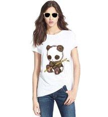 Jual Sz Graphics Little Panda T Shirt Wanita Kaos Slub Wanita Putih Branded