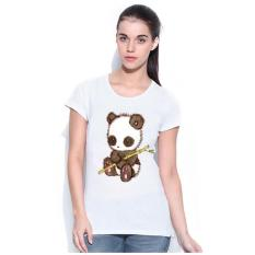 Miliki Segera Sz Graphics Little Panda T Shirt Wanita Putih