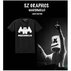 Katalog Sz Graphics Marshmello T Shirt Pria Wanita Kaos Pria Wanita Hitam Terbaru