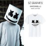 Beli Sz Graphics Marshmello T Shirt Pria Wanita Kaos Pria Wanita Putih Terbaru