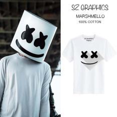 Toko Sz Graphics Marshmello T Shirt Pria Wanita Kaos Pria Wanita Putih Online