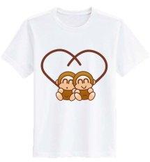 Ulasan Lengkap Sz Graphics Monkey Love T Shirt Wanita Kaos Wanita T Shirt Fashion Wanita T Shirt Kaos Distro Wanita Putih