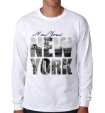 Jual Sz Graphics New York T Shirt Long Sleeve Pria Kaos Lengan Panjang Pria T Shirt Pria Kaos Pria T Shirt Fashion Putih Sz Graphics Original