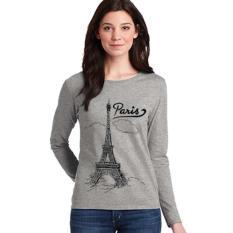 Cara Beli Sz Graphics Paris T Shirt Long Sleeve Wanita Kaos Lengan Panjang Wanita T Shirt Wanita Kaos Wanita T Shirt Fashion Wanita T Shirt Wanita Misty