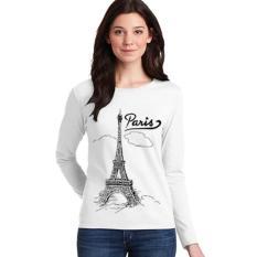 Toko Sz Graphics Paris T Shirt Long Sleeve Wanita Kaos Lengan Panjang Wanita T Shirt Wanita Kaos Wanita T Shirt Fashion Wanita T Shirt Wanita Putih Lengkap Dki Jakarta