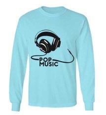 Harga Sz Graphics Pop Music T Shirt Long Sleeve Pria Kaos Lengan Panjang Pria Kaos Pria T Shirt Pria T Shirt Fashion Biru Online