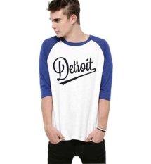 Jual Cepat Sz Graphics T Shirt Raglan 3 4 Pria Putih Biru