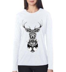 Review Sz Graphics Vintage Deer T Shirt Long Sleeve Wanita Kaos Lengan Panjang Wanita T Shirt Wanita Kaos Wanita T Shirt Fashion Putih Di Dki Jakarta