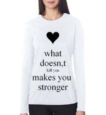 Diskon Sz Graphics What Doesnt T Shirt Long Sleeve Wanita Kaos Lengan Panjang Wanita T Shirt Wanita Kaos Wanita T Shirt Fashion Putih