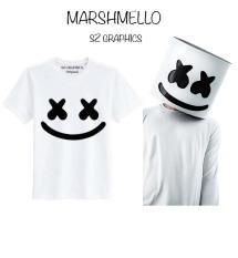 Review Sz Graphics Marshmello T Shirt Pria Kaos Pria T Shirt Fashion Pria T Shirt Distro Pria Kaos Distro Pria T Shirt Marshmello Kaos Marshmello Putih