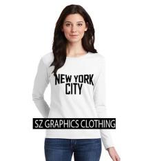 Berapa Harga Sz Graphics New York City2 Long Sleeve Wanita Kaos Lengan Panjang Wanita T Shirt Wanita Kaos Wanita T Shirt Fashion Wanita T Shirt Kaos Distro Putih Di Dki Jakarta