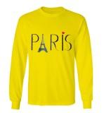 Sz Graphics Paris Long Sleeve Wanita Kaos Lengan Panjang Wanita T Shirt Wanita Kaos Wanita T Shirt Fashion Wanita T Shirt Kaos Distro Kuning Diskon Akhir Tahun