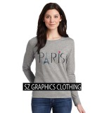 Sz Graphics Paris Long Sleeve Wanita Kaos Lengan Panjang Wanita T Shirt Wanita Kaos Wanita T Shirt Fashion Wanita T Shirt Kaos Distro Misty Sz Graphics Diskon 40