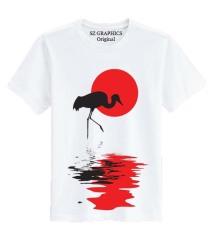 Jual Sz Graphics Sunset 2 T Shirt Pria Kaos Pria T Shirt Fashion Pria T Shirt Distro Pria Kaos Distro Wanita Putih Baru