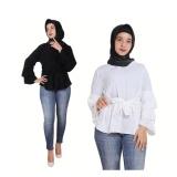 Beli T Os Atasan Wanita Triple Raffle White Online Dki Jakarta