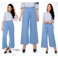 Penawaran Istimewa T Os Celana Kulot Jeans Wanita Blue Terbaru