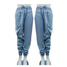 T-OS Celana Wanita  Joger Jeans Polos