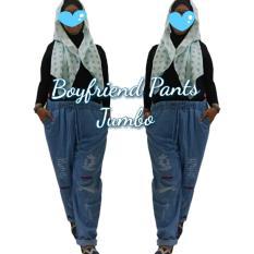 T-OS Celana Wanita Jumbo Boyfriend Ripped