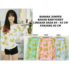 Jual T Os Jaket Sweater Banana Biru Branded Murah