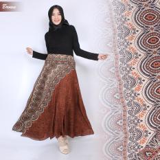 T Os Rok Panjang Batik Hana Brown Original