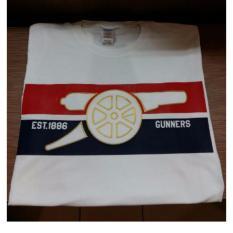 Harga T Shirt Arsenal Est 1886 Putih Combed 20S Ori
