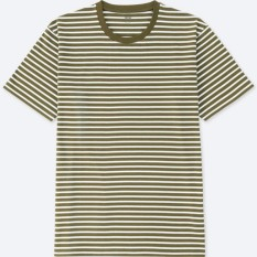 UNIQLO T-SHIRT GARIS CREW NECK LENGAN PENDEK