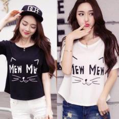 t-shirt / kaos meow meow black