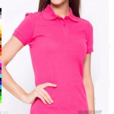 T-Shirt polo wanita Model Slim merah muda