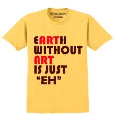 Beli T Shirt Pria Wanita Kaos Pria Wanita T Shirt Fashion Pria Wanita Sz Graphics Earth Without Art Kuning Kredit Dki Jakarta