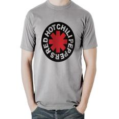 Jual T Shirt Red Hot Chili Peppers Pria Abu Abu Ogah Drop Ori