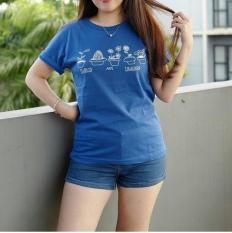 T shirt tumblr tee PLANTS ARE FRIENDS, Blue electrik