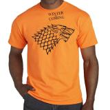 Promo Toko T Shirt Winter Is Coming Orange