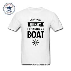 Harga T Shirts 2017 Various Colors Funny Cotton Need Therapy I Just Need My Boat Cotton Funny T Shirt For Men Lengkap