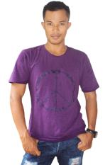 Harga T W Men T Shirt Peace Ungu Terbaru