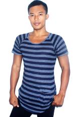 Spesifikasi T W S*Xy Slim Fit T Shirt Stripped Navy Abu Abu Murah