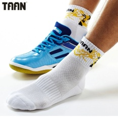 TAAN T-309 Male Cotton Badminton Middle Sock Men's Comfort Thicker Sports Socks (Yellow) - intl
