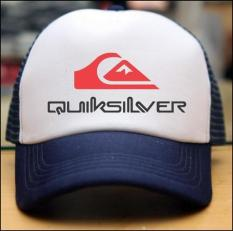 Tabasya Topi Trucker - Quicksilver Print - White Dongker