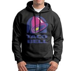 Taco Bell Logo Mens Long Sleeve Pullover Hoodie Sweatshirt Black - intl