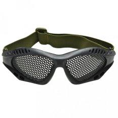 Taktis Airsoft Anti Kabut Logam Mesh Kacamata Kacamata Pengaman Mata Kacamata-Intl