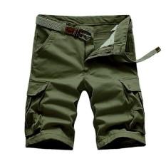 Taktis Cargo SHORT Celana Pria Denim Militer Celana Pendek untuk Pria Kargo Bermuda Jeans Cortos Hombre Pendek Homme 02-Internasional