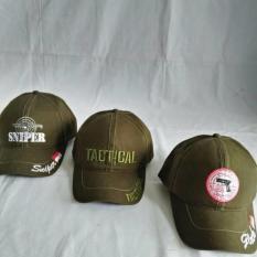 Tactical-Sniper-Glock Cap Green Army/Topi Lapangan Bordir Kanvas - Bo7h5b