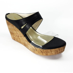 TAGLIA - Odessa Wedges Sandals - Black