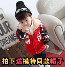 Tahun Bayi Berusia Beludru Anak Anak Laki-laki Lebih Tebal Baju Katun Jas (Merah Tua (Difoto Mengirim model Model Sama Topi))