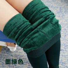 Beli Legging Slimming Tebal High Waist Wanita Ukuran Besar Hijau Gelap Hijau Gelap Kredit