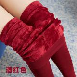 Jual Tambah Beludru Pakaian Luar Wanita Terlihat Langsing Celana Stirrup Legging Arak Anggur Warna Oem Di Tiongkok