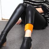 Jual Beli Tambah Beludru Perempuan Model Musim Dingin Lebih Tebal Kulit Celana Hitam Di Tiongkok