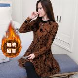 Promo Baju Dalaman Korea Fashion Style Tambah Beludru Renda Renda Renda Renda Musim Semi Warna Kopi Di Tiongkok