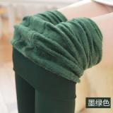 Spesifikasi Tambah Beludru Terlihat Langsing Pakaian Luar Ukuran Besar Sepatu Celana Legging Hijau Gelap Baju Wanita Celana Wanita Oem